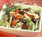Apple-Walnut Greens with Chicken Dried Plums & Spiced Pecans