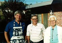 Brad Stapleton, President, his father Jerry Stapleton, Founder, and his grandfather Felix Stapleton