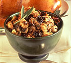Mushroom-Herb Stuffing with Dried Plums