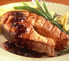 Salmon with Spiced Marsala Plum Sauce